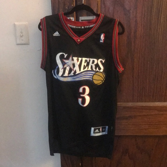 super popular f1f96 896ba Philadelphia 76ers Allen Iverson Adidas Jersey #3